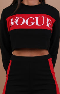 Black Vogue Printed Loungewear Set - Kaleah