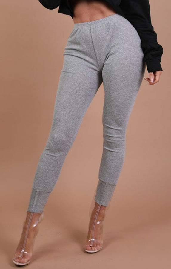 Grey Basic Leggings - Grace