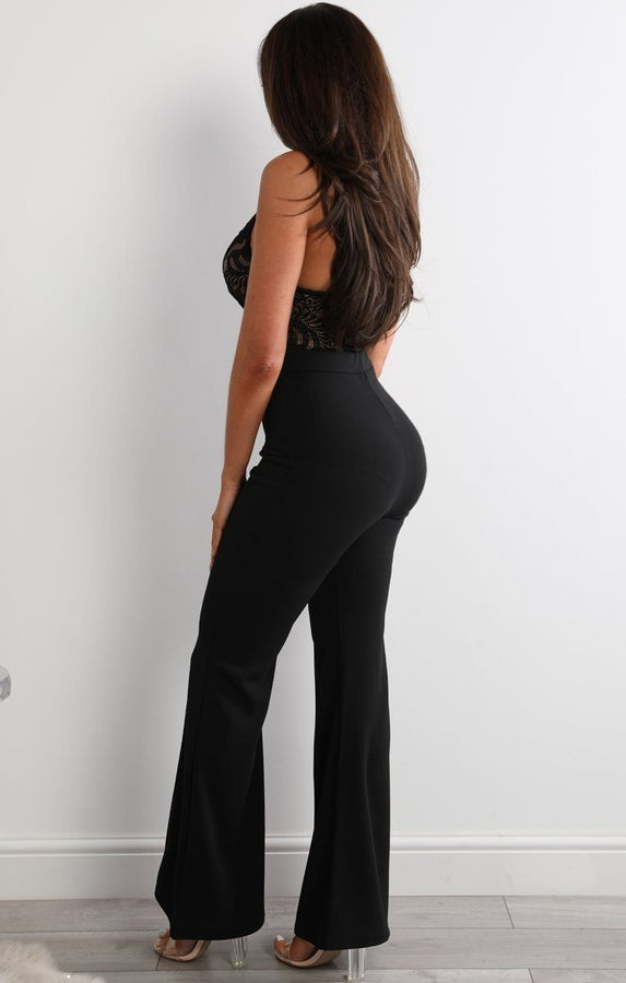 Black High Waist Flare Trousers - Holly