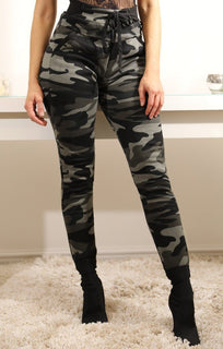Grey Camo Slim Fit Joggers