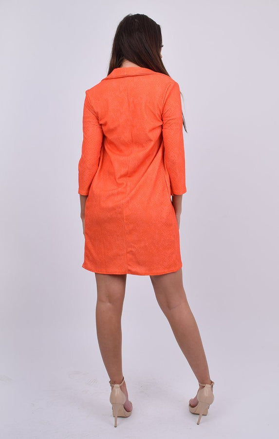 Orange Snake Print Duster Coat - Georgie