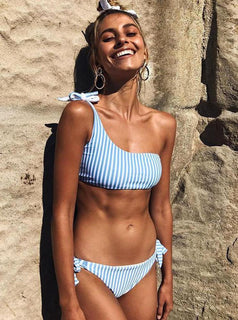 Blue Striped Bikini Bottoms - Sarocha