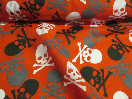 skulls pirate fond orange (pas à vendre)