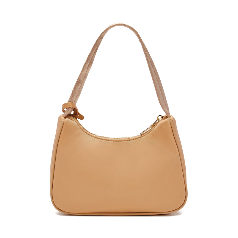 NYLON HANDBAG IN NUDE