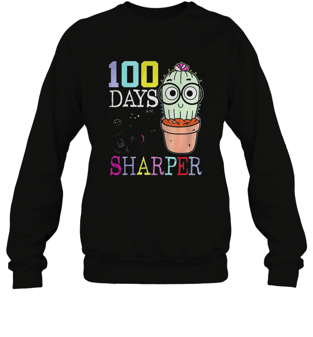 100-Days-Sharper-Cactus-Version-Shirt Gildan - Heavy Blend Crewneck Sweatshirt - 18000