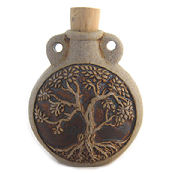 Tree of Life Ceramic Bottle