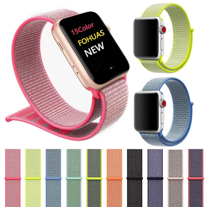 Sports Nylon Strap for Apple Watch Band