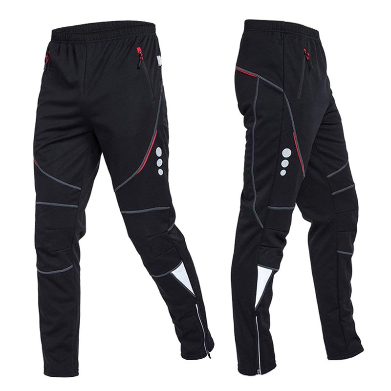 Men's Cycling Pants Athletic Pants Windproof Thermal Fleece Winter Bike Riding Running Sports Pants Trousers
