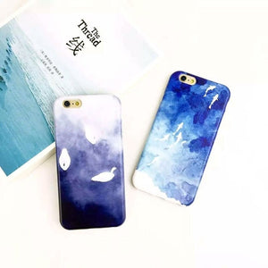 Chinese Watercolor Art iPhone Case