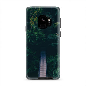 Tree Winding Road Landscape Nature iPhone X Case