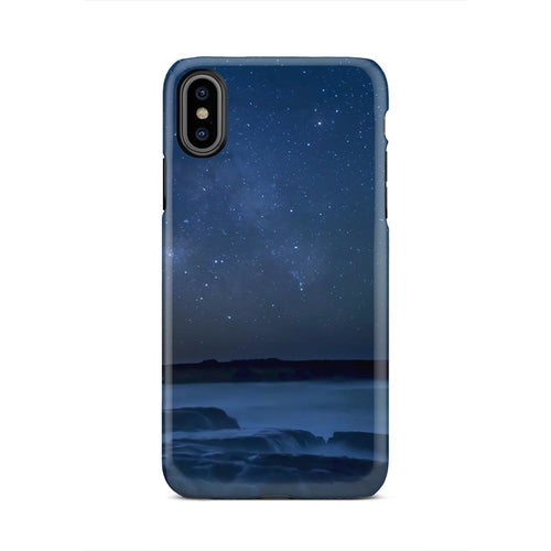 Space Aurora Beach Landscape Nature Sand iPhone X