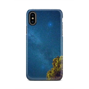 Stars Trees Landscape Nature Halo iPhone X Case