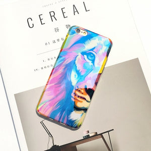 Blue Laser Tiger and Lion iPhone Case
