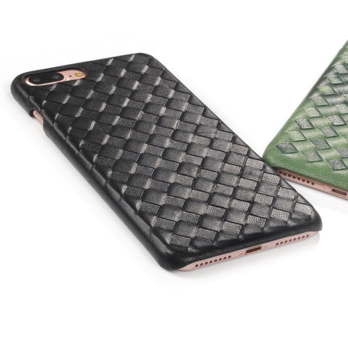 Black Woven Leather iPhone Case