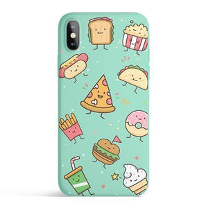 Kawaii Junk Food - Colored Candy Cases Matte TPU
