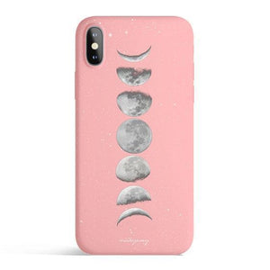 Moon Phases - Colored Candy Cases Matte TPU iPhone