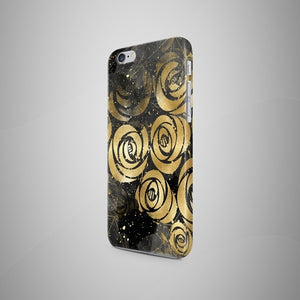 Golden Flowers Marble iPhone 8 Case Marble iPhone