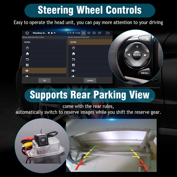 car stereo steering wheel controls and backup camera