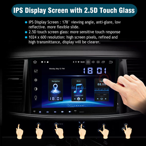 "2 din universal Android 10 car stereo radio with 7""  GPS navigation supports CarPlay WiFi Bluetooth(178_101)"