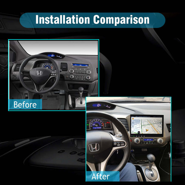2006-2011 honda civic radio installation
