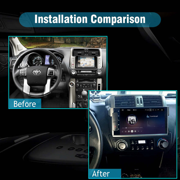 car stereo installation for toyota prado