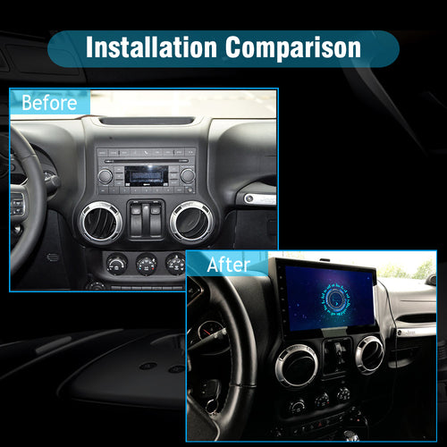 car stereo installation for jeep wrangler