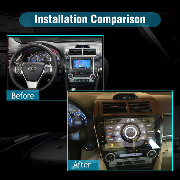 car stereo installation for Toyota camry 2012-2014