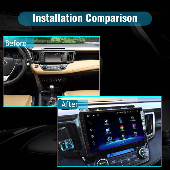 Toyota RAV4 car radio installation