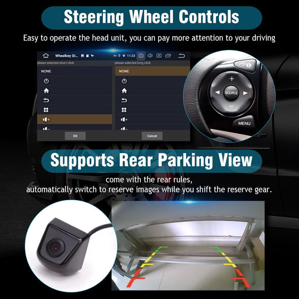 support steering wheel buttons