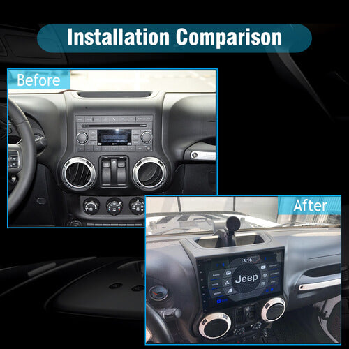 car stereo installation for Jeep Wrangler 2015-2016