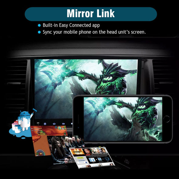 car stereo with mirror link function