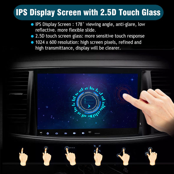 android 9.0 car stereo with IPS HD touch screen