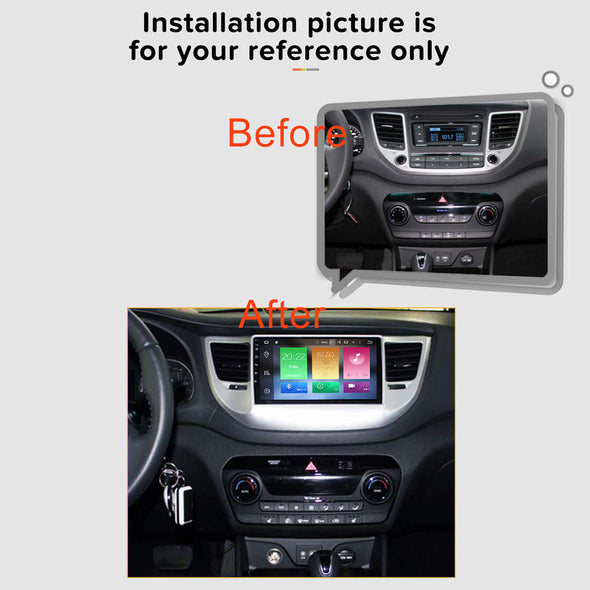 installation reference for Hyundai Tucson IX35 radio