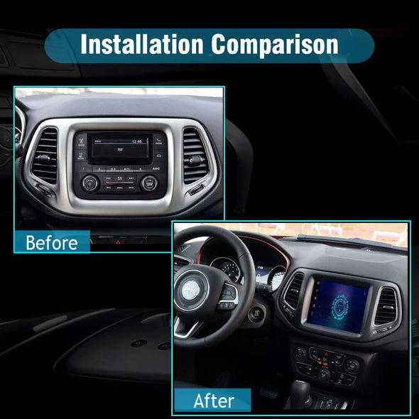 Jeep Compass 2017 stereo installation