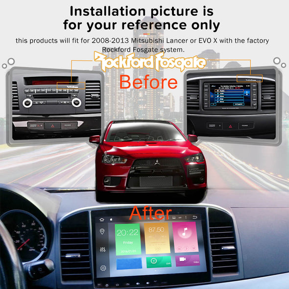 installation reference for Mitsubishi Lancer stereo