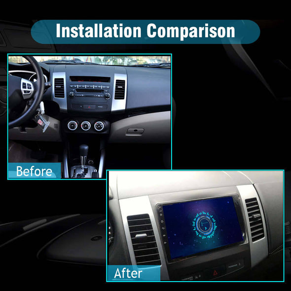 car stereo installation for mitsubishi outlander