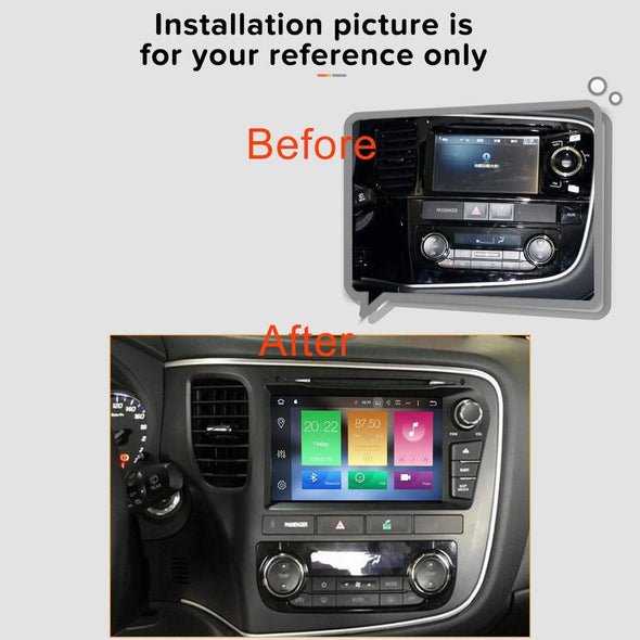 installation reference for Mitsubishi Outlander