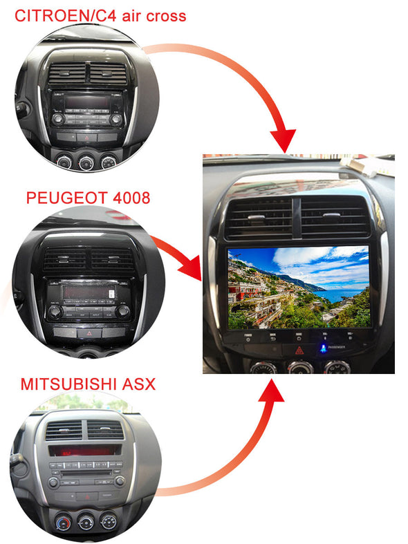 installation reference for Mitsubishi ASX Outlander Sport stereo