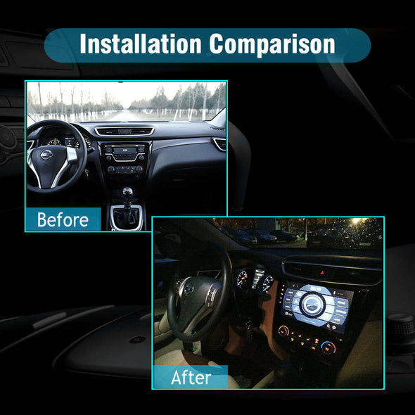 car radio installation for Nissan Qashqai