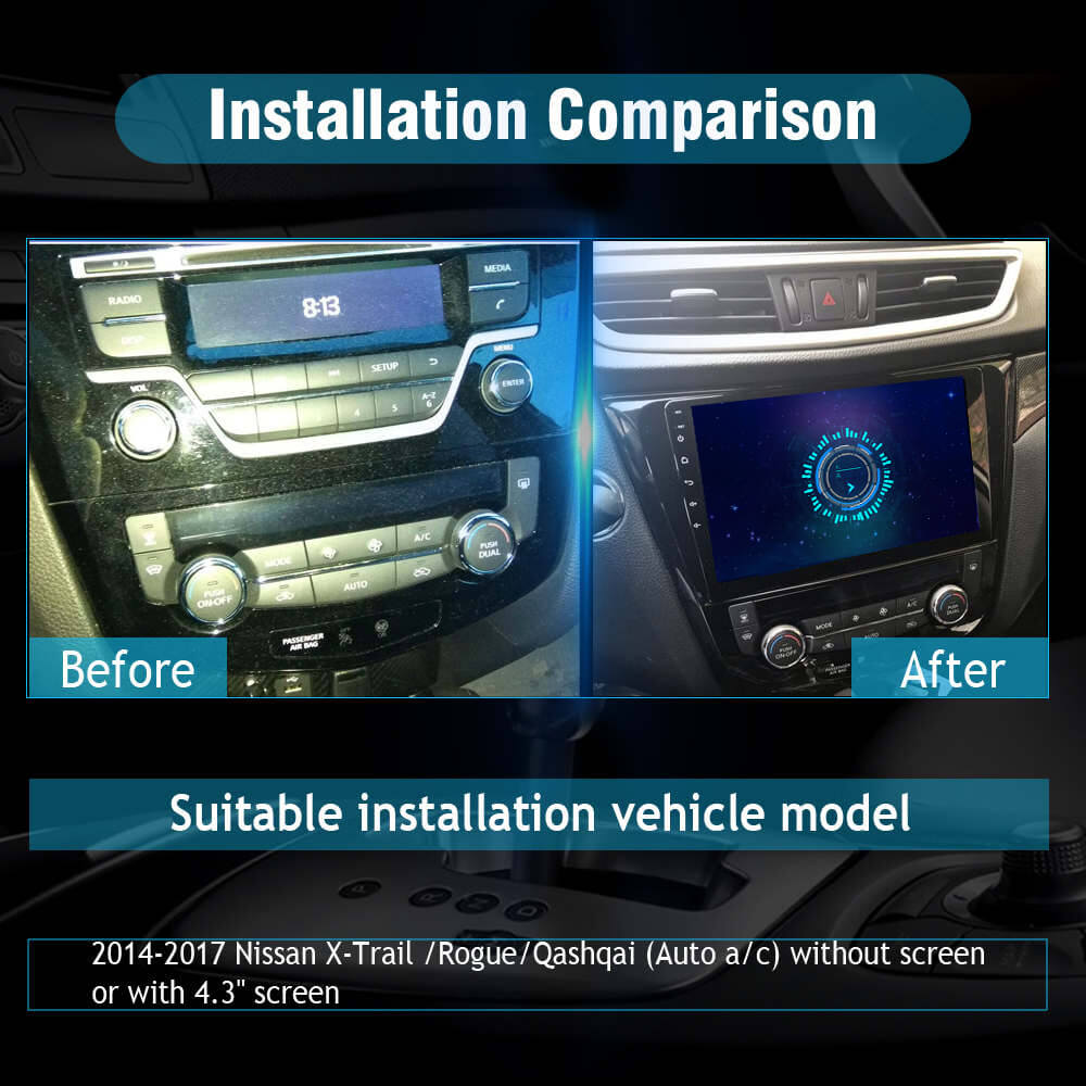 sygav android 9 0 car stereo radio for nissan rogue x trail gps head u sygav android 9 0 car stereo radio for nissan rogue x trail gps head unit with carplay android auto optional
