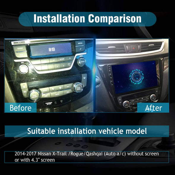 car stereo installation for Nissan Rogue X-trail