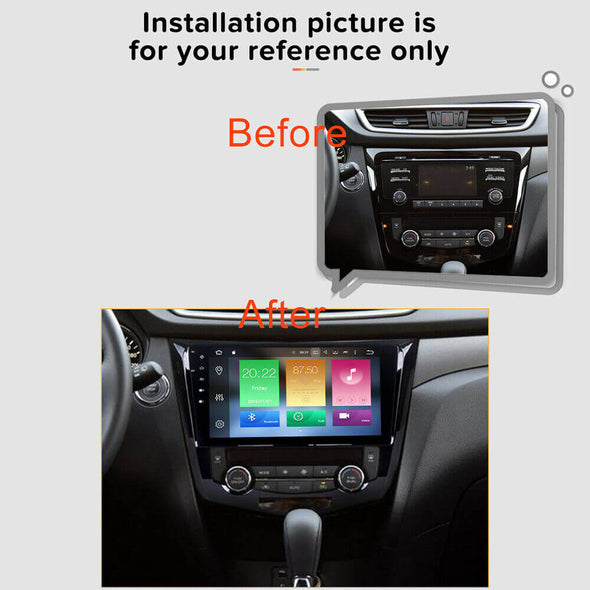 Nissan Rogue X-trail stereo installation