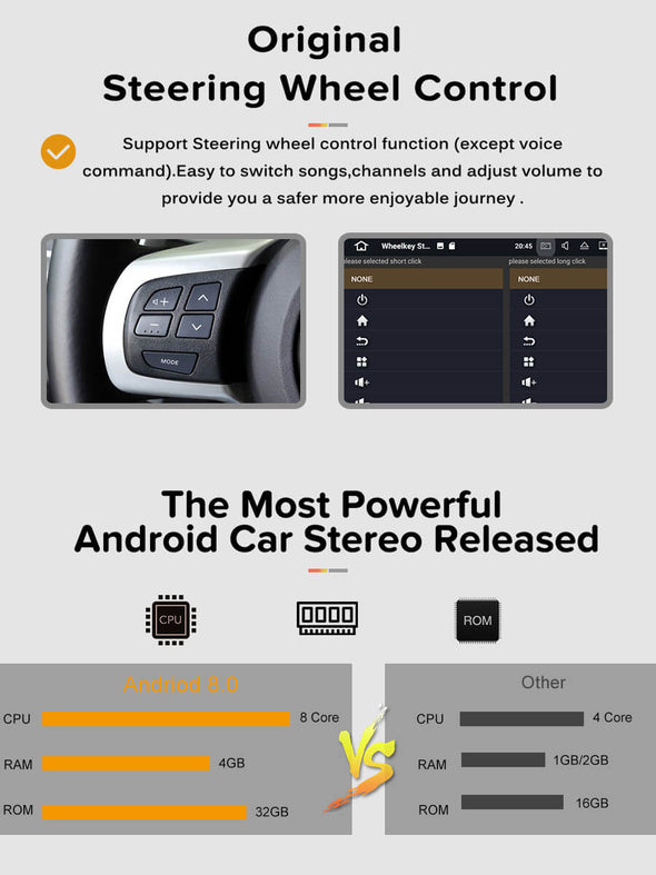 Android 8.0 head unit configuration and steering wheel control