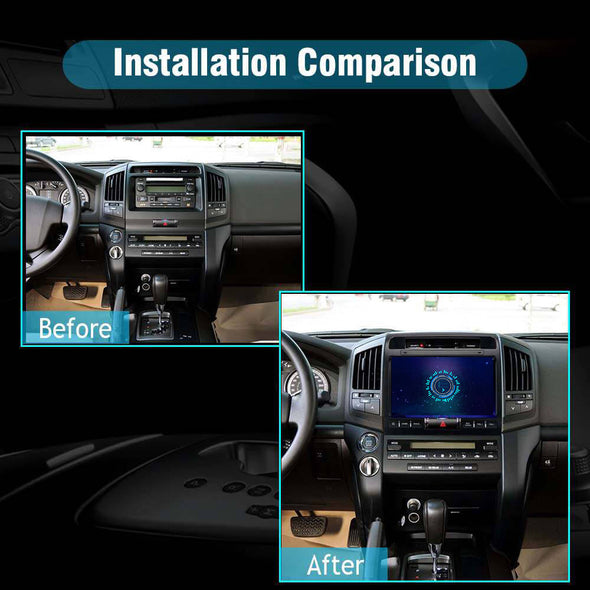car stereo installation for Toyota Land Cruiser LC200