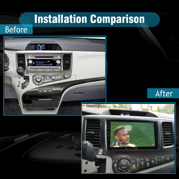 car stereo installation for Toyota Sienna XL30