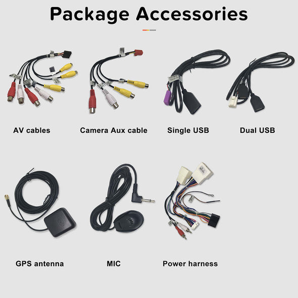 Package accessories for car stereo