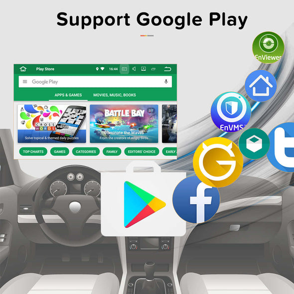 android 8.0 car stereo with google play store