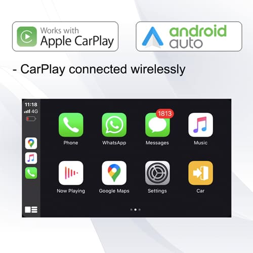 "SYGAV 10.2"" Android 10.0 Car Stereo for Universal 1 Din Radio GPS Headunit with CarPlay Android Auto"