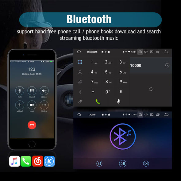 mitsubishi lancer android 9.0 stereo bluetooth function