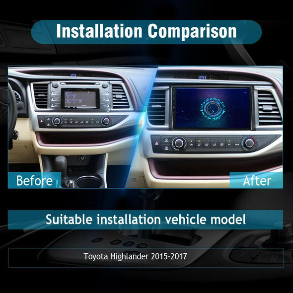 Toyota highlander car stereo installation